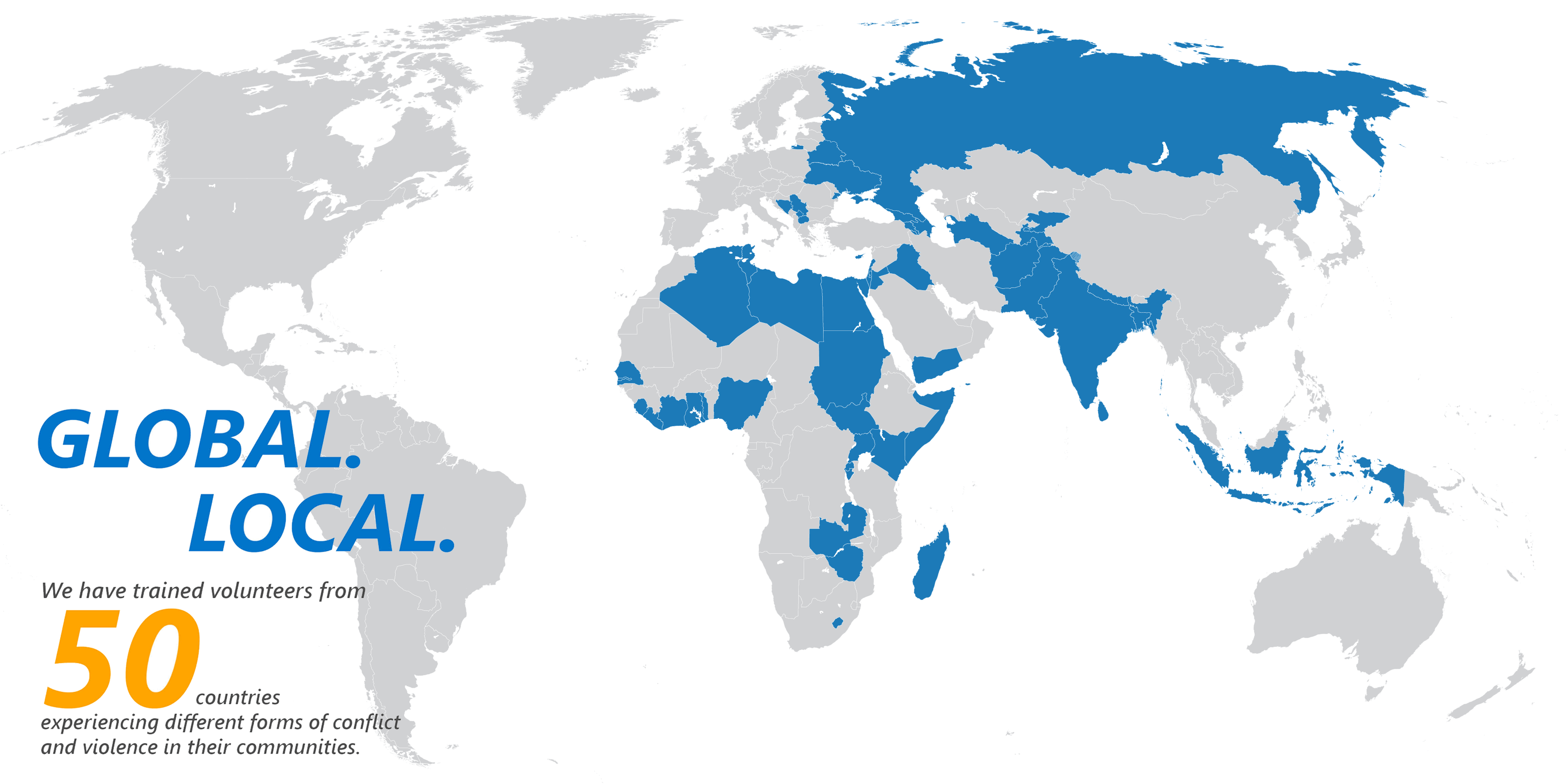 listing of countries in which Generations For Peace works