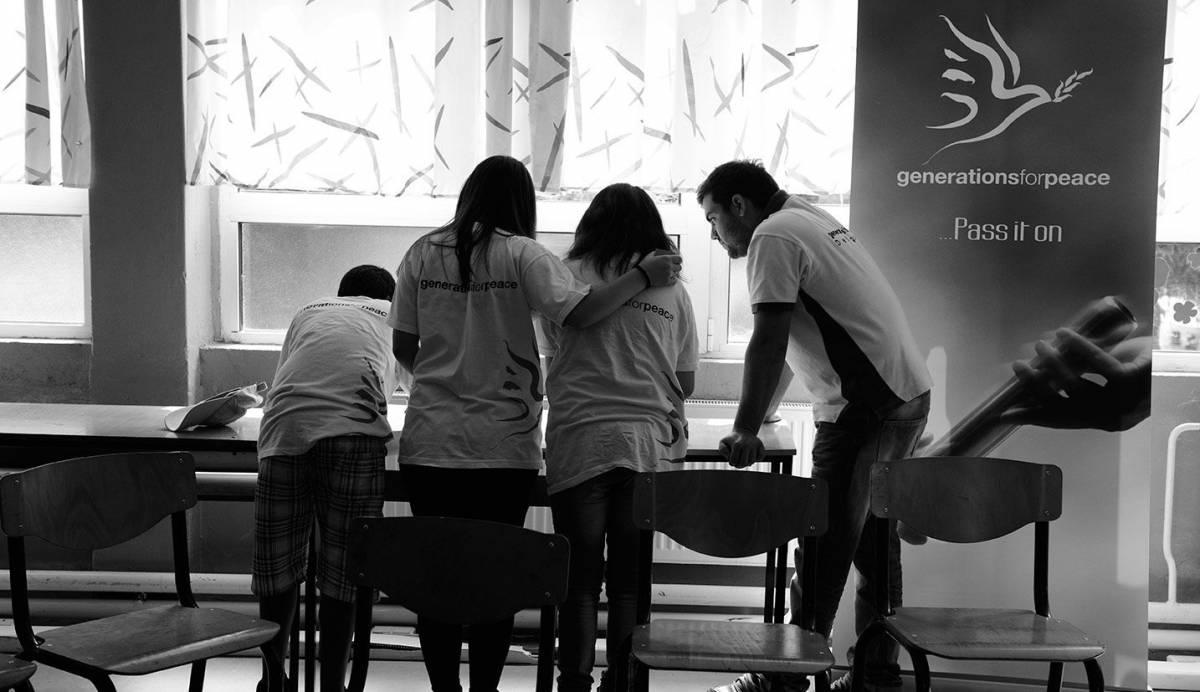 Generations For Peace volunteers brainstormin
