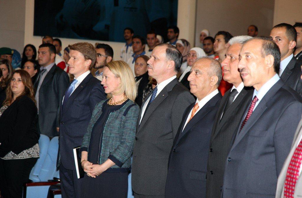 HRH Prince Feisal Al Hussein congratulates University of