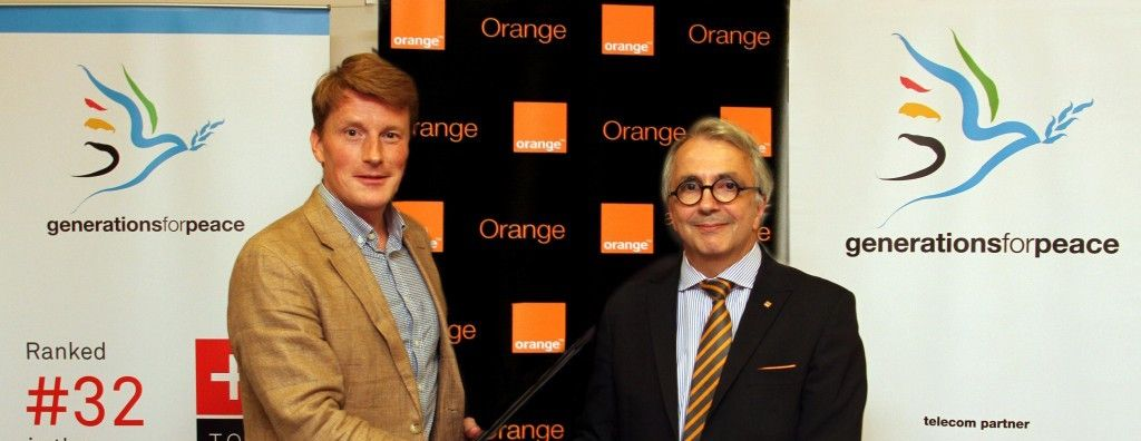 Orange Jordan and Generations For Peace sign new partnership agreement