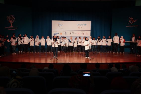 children performing at Social Cohesion Ceremony