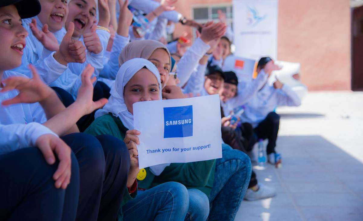 Samsung and Generations For Peace using Sport and Arts for Youth Development across Levant Region