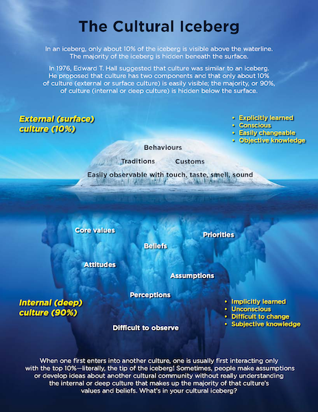 The cultural iceberg model