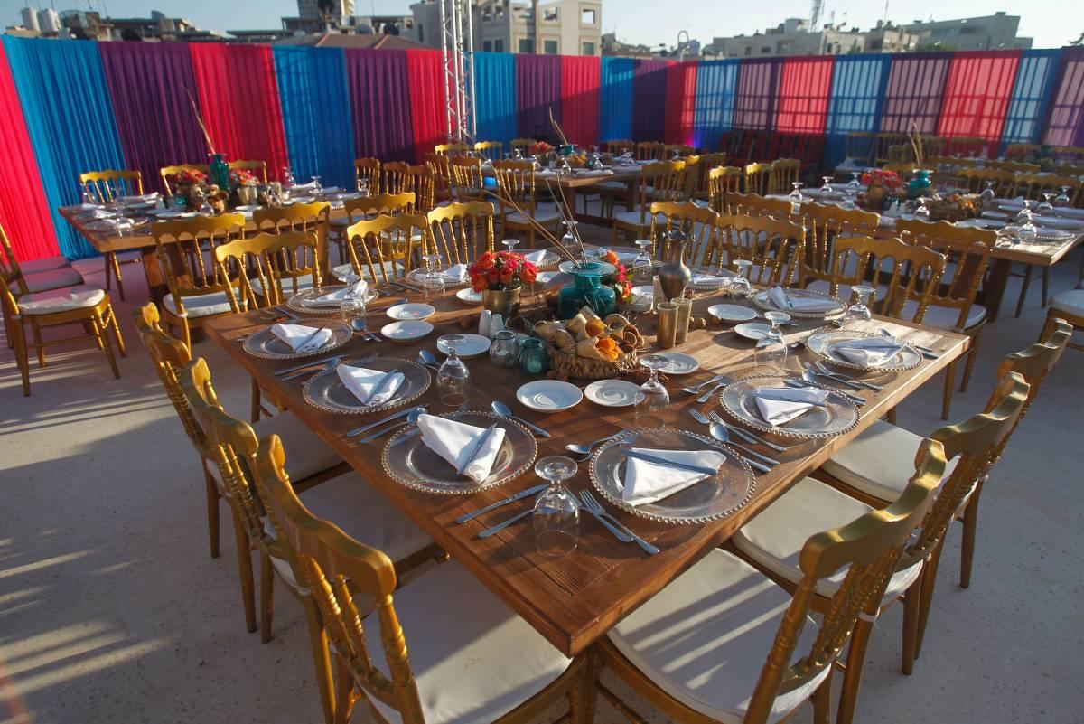 2-table-arrangement-event-preparations-catering-generations-for-peace-jordan-amman-facilities-headquarters-rent-hire