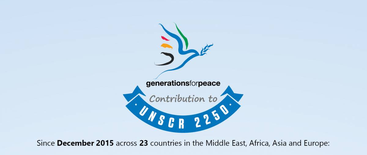 From words to actions! Generations For Peace contributions to UNSCR 2250