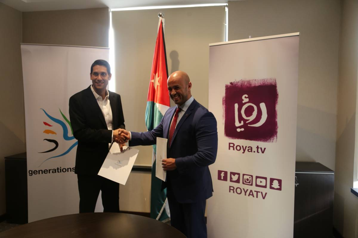 Generations For Peace signs media partnership with Roya TV