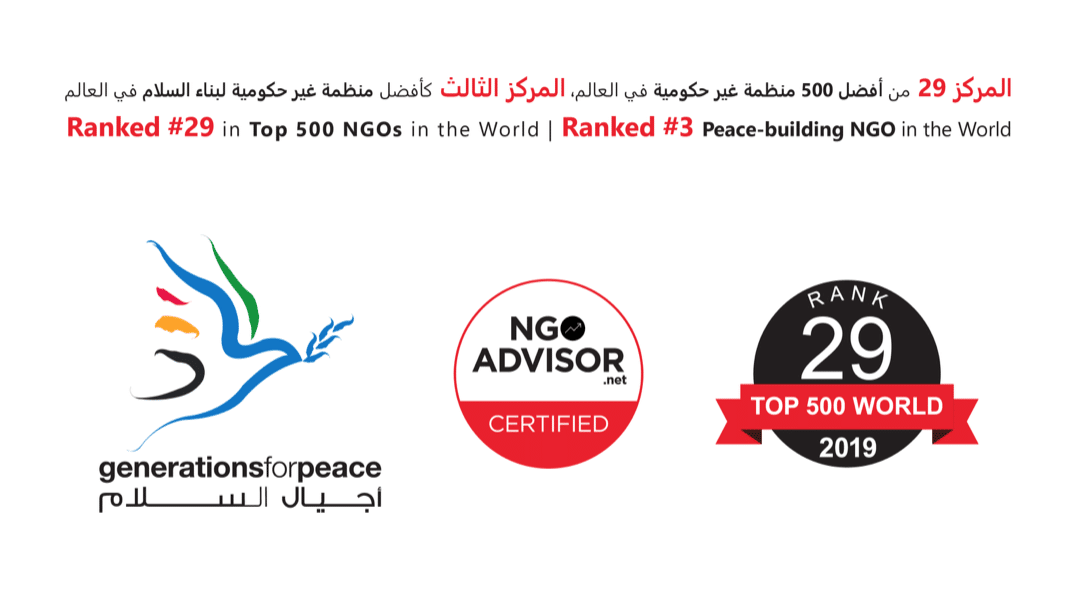 Generations For Peace Earns #29 Ranking in the 2019 Top 500 NGOs in the World