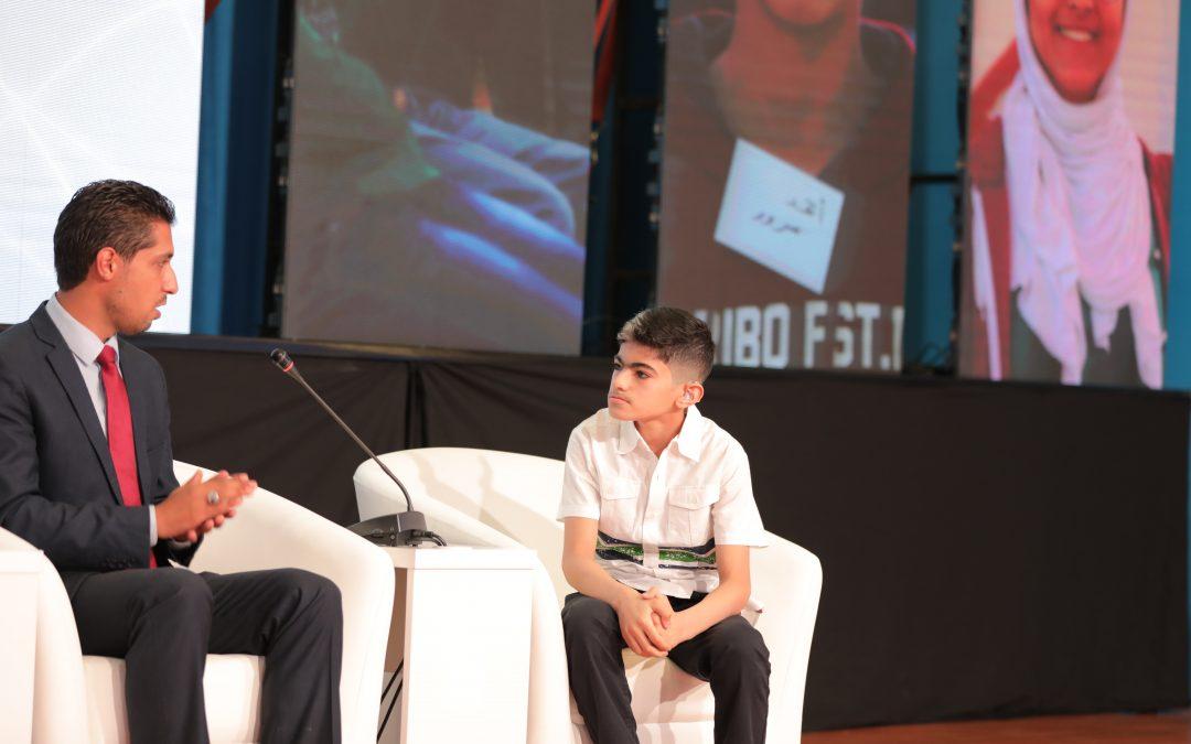"""محمود طفل أصم وأبكم يتحدث """"لغة الرياضة"""""""