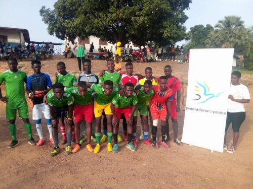 Generations For Peace hosts soccer games
