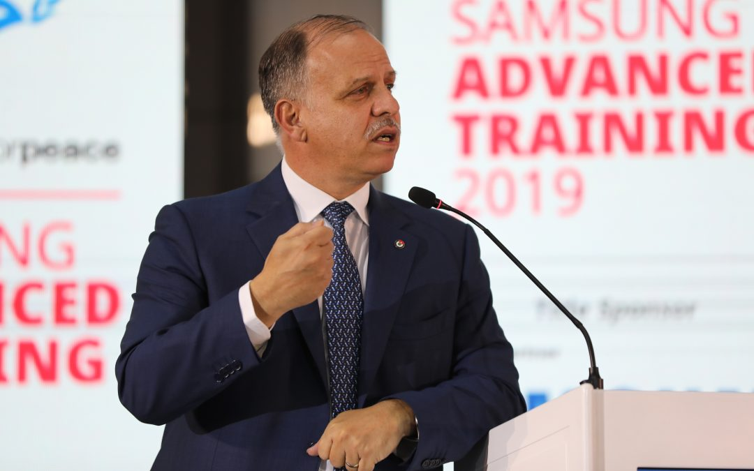 HRH Prince Feisal Al Hussein Presents 2019 Samsung Generations For Peace Awards