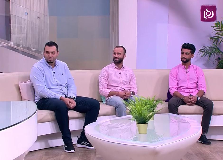 مقابلة فريق مسلسل خط التماس على قناة رؤيا